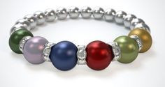 My families birthstones arraged with me and my husband, the month we were married... Then my childrens in birth order! Check out my Mothers Bracelet! What does yours look like? Design a bracelet in just 3 easy steps! Just $29.95undefined