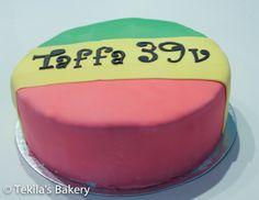 Jamaica and reggea themed cake to birthday party