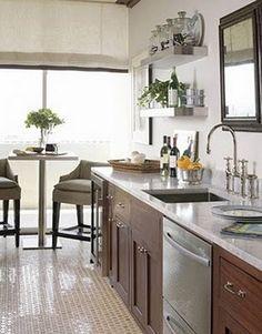 Green Plants in kitchen!  love!  Remodelaholic.com #kitchen #plants