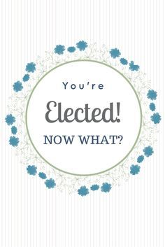 Congratulations! You've just been elected to the PTO or PTA board! Now what do you do?