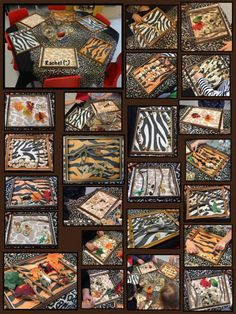 """Transient art with empty frames, animal print paper and loose parts - from Rachel ("""",) Zoo Art, Jungle Art, Jungle Theme, Jungle Animals, Zoo Activities, Creative Activities, Handas Surprise, Pets For Sale, Pet Sale"""