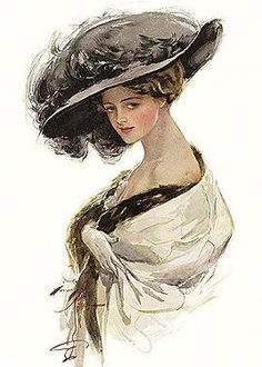 Illustration by Harrison Fisher (1875 - 1934)