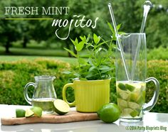 FRESH MINT AND LIME MOJITO RECIPE! #spon #CWColor -  With a special mint infused simple syrup recipe so there's no embarrassing mint in your teeth at parties!