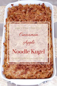 Cinnamon Apple Noodle Kugel is a sweet and comforting side dish traditionally…