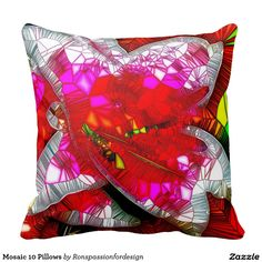 Decorate your home with decorative and throw pillows from Zazzle. Gold Pillows, Throw Pillows, Custom Pillows, Knitted Fabric, The Neighbourhood, Mosaic, Make It Yourself, Knitting, Color