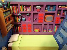 Hey Arnold Arnold's room miniature diorama replica.
