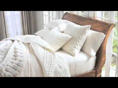 Create a classic look and a spa-like feel in your bedroom with these White Bedding Styling Tips from Pottery Barn.