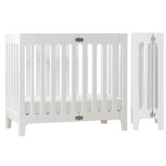 bloom Alma Urban Mini Folding Crib in Coconut White