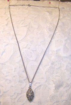 Vintage Sarah Coventry Silver Tone & Rhinestone Necklace Coventry, Rhinestone Necklace, Pendant Necklace, Silver, Vintage, Jewelry, Fashion, Moda, Jewlery