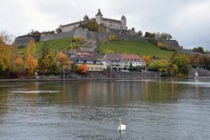 """Wurzburg, Germany, located on the Main River, is a city in the region of Franconia, Northern Bavaria, Germany. """"Dating to the 12th century, the Marienberg Fortress is a prominent landmark on the Main."""" Video tour: https://www.youtube.com/watch?v=il5ybeYKqPs <3 Pic: Marienberg"""