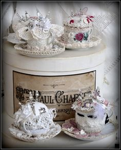 five lace shabby cup - my shabby white home