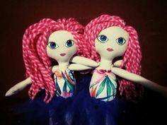 Muñecas de tela, mellizas <3 Veronique