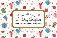 Vintage Style Holiday Kit by Kelly Carnes Design on @creativemarket