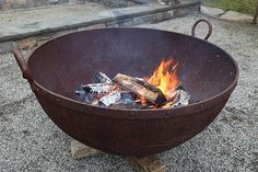 Martha Stewarts large iron cauldron.  I want one for my back yard.....heck of a fire pit :-)