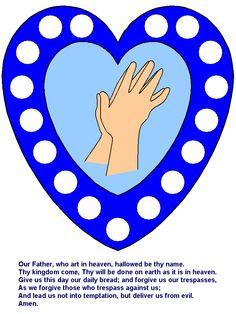 Lord's Prayer Sunday School for Kids Craft