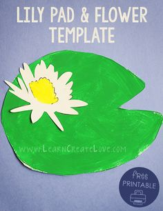 Printable Lily Pad and Flower Craft