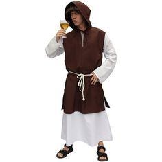 Pater Trappist kostuum voor volwassenen. Deze Pater Trappist, bierbrouwende abdij, kostuum bestaat uit een kostuum met hoofdkap en een touw als riem. Verkleed als Pater Trappist kunt u zo het klooster in en helpen met bier brouwen. Of een feestje bouwen!