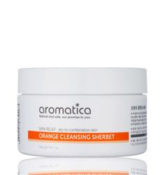 Aromatica Orange Cleansing Sherbet: Oil cleansers are currently all the rage in Korea, and this one has a unique formulation. If you've ever used coconut oil, you'll recognize its properties: This cleanser starts out solid but liquefies when it hits warm water. It contains orange peel extract, babassu seed oil, and cedarwood bark oil. It melted my makeup off and left my skin feeling soft and not at all greasy. I use it with a konjac sponge for extra deep cleansing.