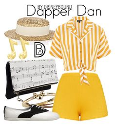 """""""Dapper Dan"""" by leslieakay ❤ liked on Polyvore featuring Eugenia Kim, Topshop, disney, disneybound and disneycharacter"""