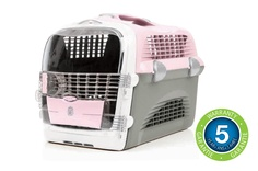 Catit Voyageur Cabrio Multi-Functional Carrier System for cats and toy breed dogs combines superior safety features with ease of use for five-star pet accommodations on the go. Available in 3 colors.