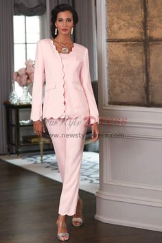 3f160270c4 2019 Fashion Pink Mother of the bride pant suits outfit nmo-458