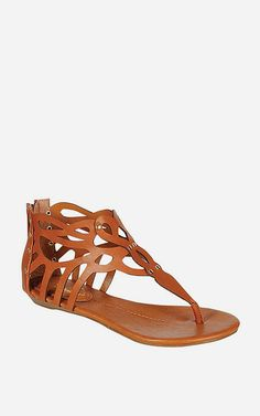Tan Rachel T-Strap Sandal