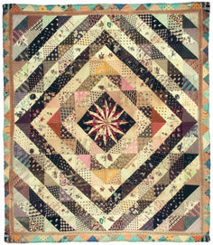 patchwork quilt , end 18th century, handpainted chintz and french printed…