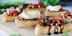 Ciabatta, Bruschetta, Camembert Cheese, Salsa, Ethnic Recipes, Food, Essen, Salsa Music, Meals