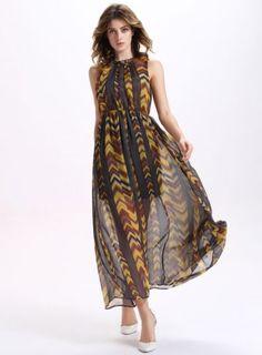 Summer Goddess Maxi Dresses Chiffon Cocktail Beach Dress 5a38117c84a8
