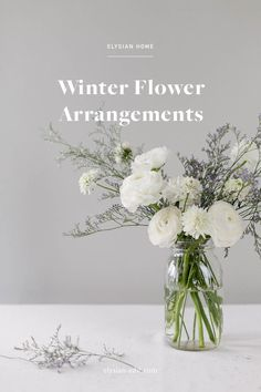 Looking for a simple way to brighten a winter day? We're sharing a few ideas for winter flower arrangements over on The Elysian Edit.