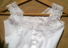 Victorian White Lacy Corset Top French Cotton Camisole Small Clothing Costume #sophieladydeparis Free Shipping Shop