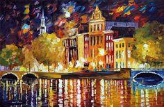 Amsterdam- Autumn Reflections - LEONID AFREMOV