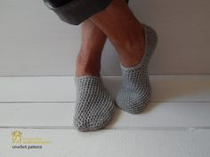 PDF FILE  This Is An Instant Download After You Purchase A classic look that is both manly and stylish. These slippers work up quickly, in a tight stitch, making them durable, thick and fluffy. Make a pair for your man or a friend.  Skill Level: Beginner Projects for first-time crocheters using basic stitches. Minimal shaping.  Please Note: All of my patterns are written in US crochet terms