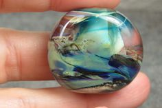 Into the Fire Lampwork Art Beads ~Abstract Tidepool~ Artist handmade focal bead