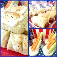 Fourth of July recipes that we actually have time to make. Cute table scape.