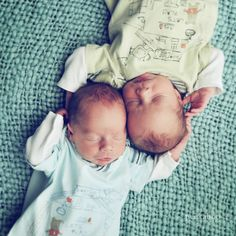 If I ever have twins, they MUST take a picture like this every year.