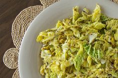 I want to try this: Sautéed Savoy cabbage with Dijon mustard.
