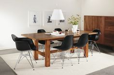 that's it. Good legs for the table and the eames chairs rock