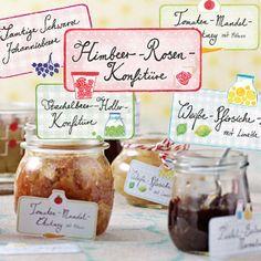 Hübsche Etiketten für Konfitüre & Co. - lecker-etiketten