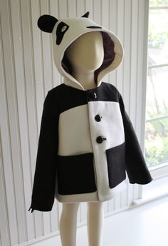 And they have a panda one. So cute for a girl, no?  Lucky Panda Jacket Girls Size 6. $150.00, via Etsy.