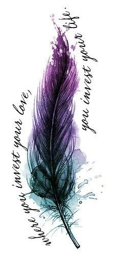 Tattoo ideas dibujos color 18 ideas – foot tattoos for women quotes Trendy Tattoos, Black Tattoos, New Tattoos, Body Art Tattoos, Girl Tattoos, Tattoos For Guys, Sleeve Tattoos, Watercolor Feather, Feather Art