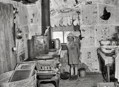 Little girl during the US Depression in 1936