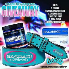 @Regrann from @cardilloweightbelts -  GIVEAWAY GIVEAWAY  1 Follow  @richgaspari  @cardilloweightbelts  2 Like the post 3 Tag a friend and leave your waist size  BONUS Share the post. One winner will get the belt another winner get the @gaspari SuperPump and Halodrol. Great Luck Everyone - #regrann