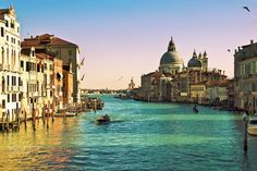 Venice - Panorama of the Grand Canal in Venice, seen from the Accademia bridge