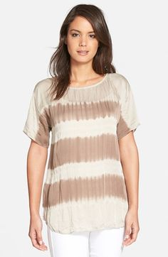 Eileen Fisher Ballet Neck Boxy Silk Top available at #Nordstrom