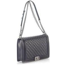 Chanel Large Lambskin Boy Flap Shoulder Handbag