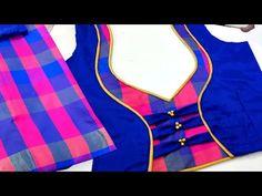 Latest blouse design multi color blouse design stitch easy blouse back neck design with saree cloth and party wear blouse design. Blouse Back Neck Designs, Netted Blouse Designs, Patch Work Blouse Designs, Kids Blouse Designs, Simple Blouse Designs, Stylish Blouse Design, Kurti Neck Designs, Sari Design, Blouse Neck Models