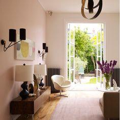 Pink pastel living room
