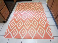 Painted canvas floor cloth.  I've got the canvas for this, really need to haul it out and paint one up for the breakfast room.
