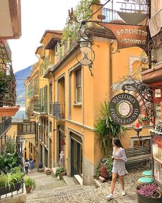 Bellagio, Lake Como, Italy (photo by 🇮🇹 Venice Travel, Italy Travel, Places To Travel, Places To Visit, Italy Street, Italy Vacation, Florence Italy, Travel Aesthetic, Romantic Travel